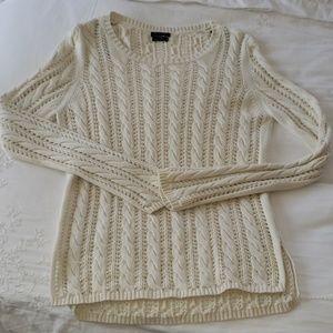 Mossimo Dutti Off white/ Cream caple Knit sweater
